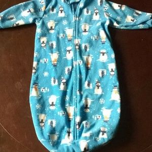 Carter's Baby Swaddle Bunting Outfit Blanket sz 9M